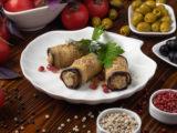 Баклажаны с фетой и орехами